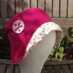 chapeau soleil enfant rose