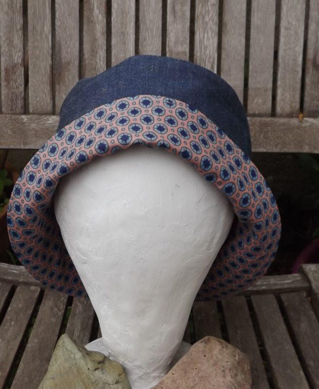 chapeau de soleil pour femme en toile coton caramel doubl coton. Black Bedroom Furniture Sets. Home Design Ideas