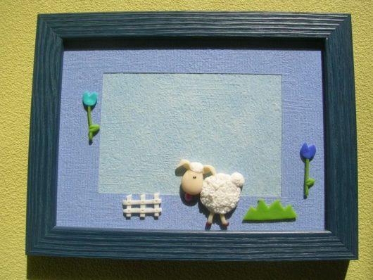 cadre photo mouton