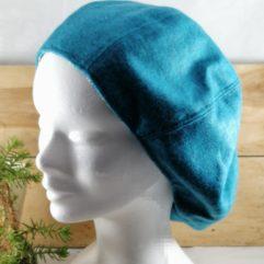 béret chapeau hiver femme lainage bleu