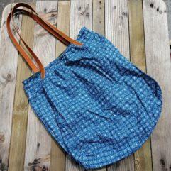 grand sac coton cuir