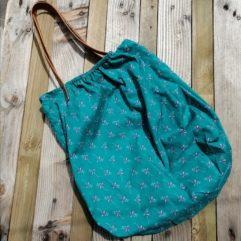 Grand sac bandoulière cuir