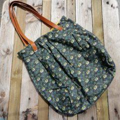 grand sac coton et cuir